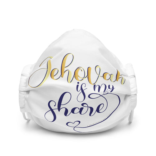 Jehovah is My Share with Heart Premium Face Mask-JW Gifts-Our Joy Designs
