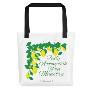 Fully Accomplish Your Ministry Lemons Tote bag-JW Gifts-Our Joy Designs