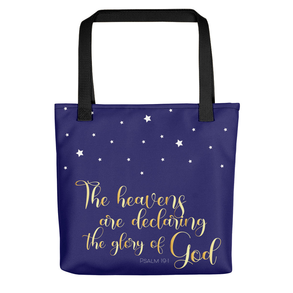 God's Glory Stars Tote bag-JW Gifts-Our Joy Designs