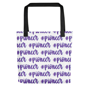 Purple Pioneer Cursive Hashtag Tote bag-JW Gifts-Our Joy Designs