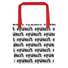 Load image into Gallery viewer, Pioneer Cursive Hashtag (Black) Tote bag-JW Gifts-Our Joy Designs