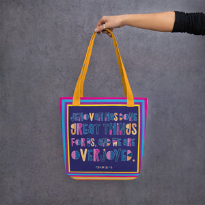 Great Things Colorful Tote Bag-JW Gifts-Our Joy Designs