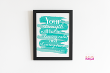 Load image into Gallery viewer, 2021 Yeartext Isaiah 30:15 Printable 8 x 10 Wall Print-Wall Print-Our Joy Designs