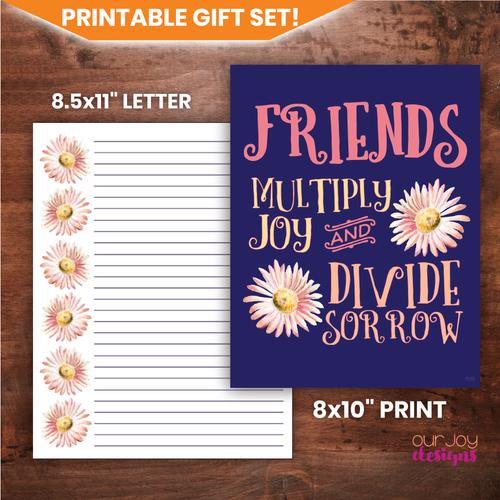 Friends Add Joy Printable Gift Set | JW Gifts, JW Encouragement for Congregation-Printable Gifts-Our Joy Designs