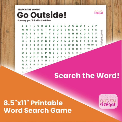 Go Outside! Scenery in the Bible Printable Word Search Game for JW Quarantine, JW Zoom Game Night, Family Worship-Games-Our Joy Designs