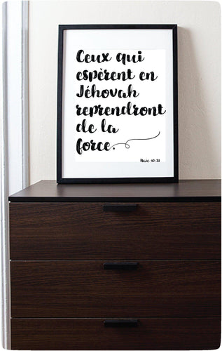 Espèrent en Jehovah, en Français - Isaïe 40:31 | JW Printable Wall Print-Wall Print-Our Joy Designs