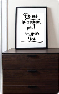 2019 Yeartext | Do Not Be Anxious For I am Your God | Isaiah 41:10 | JW Digital Printable-Wall Print-Our Joy Designs