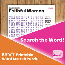 Load image into Gallery viewer, Faithful Women Search the Word! Word Search Puzzle | 8.5x 11"