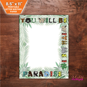 "Kid's Paradise Letter Writing Paper | You Will Be With Me In Paradise, Luke 23:43 | 8.5x11"" JW Letter Writing Paper, to Draw or Write-Letter Writing-Our Joy Designs"
