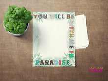 "Load image into Gallery viewer, Kid's Paradise Letter Writing Paper | You Will Be With Me In Paradise, Luke 23:43 | 8.5x11"" JW Letter Writing Paper, to Draw or Write-Letter Writing-Our Joy Designs"
