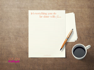 Everything With Love - JW Digital Letter Writing Paper - 8.5 x 11-Letter Writing-Our Joy Designs