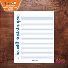 Load image into Gallery viewer, He Will Sustain You | Printable JW Letter Writing Paper - 8.5 x 11-Letter Writing-Our Joy Designs