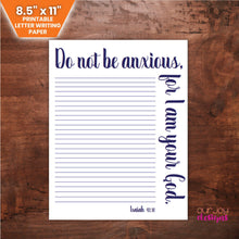Charger l'image dans la galerie, Do Not Be Anxious Printable JW Letter Writing Paper - 8.5 x 11-Letter Writing-Our Joy Designs