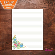 "Charger l'image dans la galerie, Wildflowers Lined JW Letter Writing Paper | 8.5"" x 11"" 