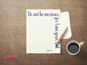 Do Not Be Anxious Printable JW Letter Writing Paper - 8.5 x 11-Letter Writing-Our Joy Designs