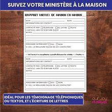 Load image into Gallery viewer, Rapport Virtuel Maison en Maison Pour le Ministère | Témoins de Jéhovah-Printable-Our Joy Designs