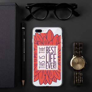 Best Life Ever Red Floral iPhone Case-JW Gifts-Our Joy Designs