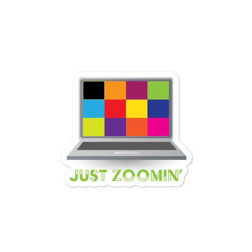 Just Zoomin' Green Bubble-free Stickers-JW Gifts-Our Joy Designs