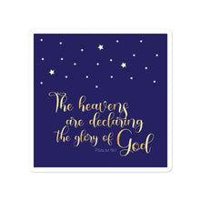 Load image into Gallery viewer, God's Glory Square Night Sky Bubble-free Sticker-JW Gifts-Our Joy Designs