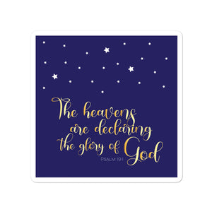 God's Glory Square Night Sky Bubble-free Sticker-JW Gifts-Our Joy Designs