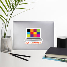 Load image into Gallery viewer, Just Zoomin' Orange Bubble-free Stickers-JW Gifts-Our Joy Designs