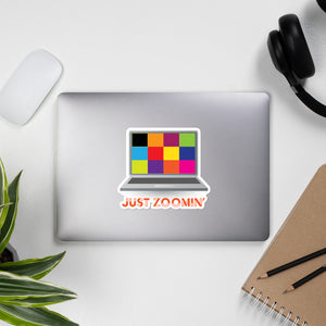 Just Zoomin' Orange Bubble-free Stickers-JW Gifts-Our Joy Designs