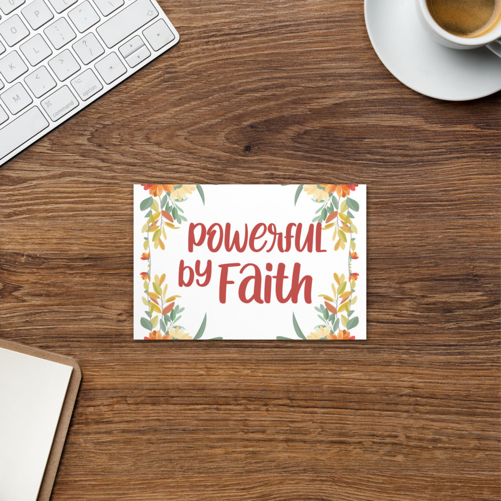 Floral Powerful by Faith 4x6 Postcard