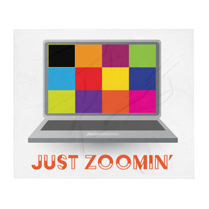 Just Zoomin' Orange Letter Throw Blanket-JW Gifts-Our Joy Designs