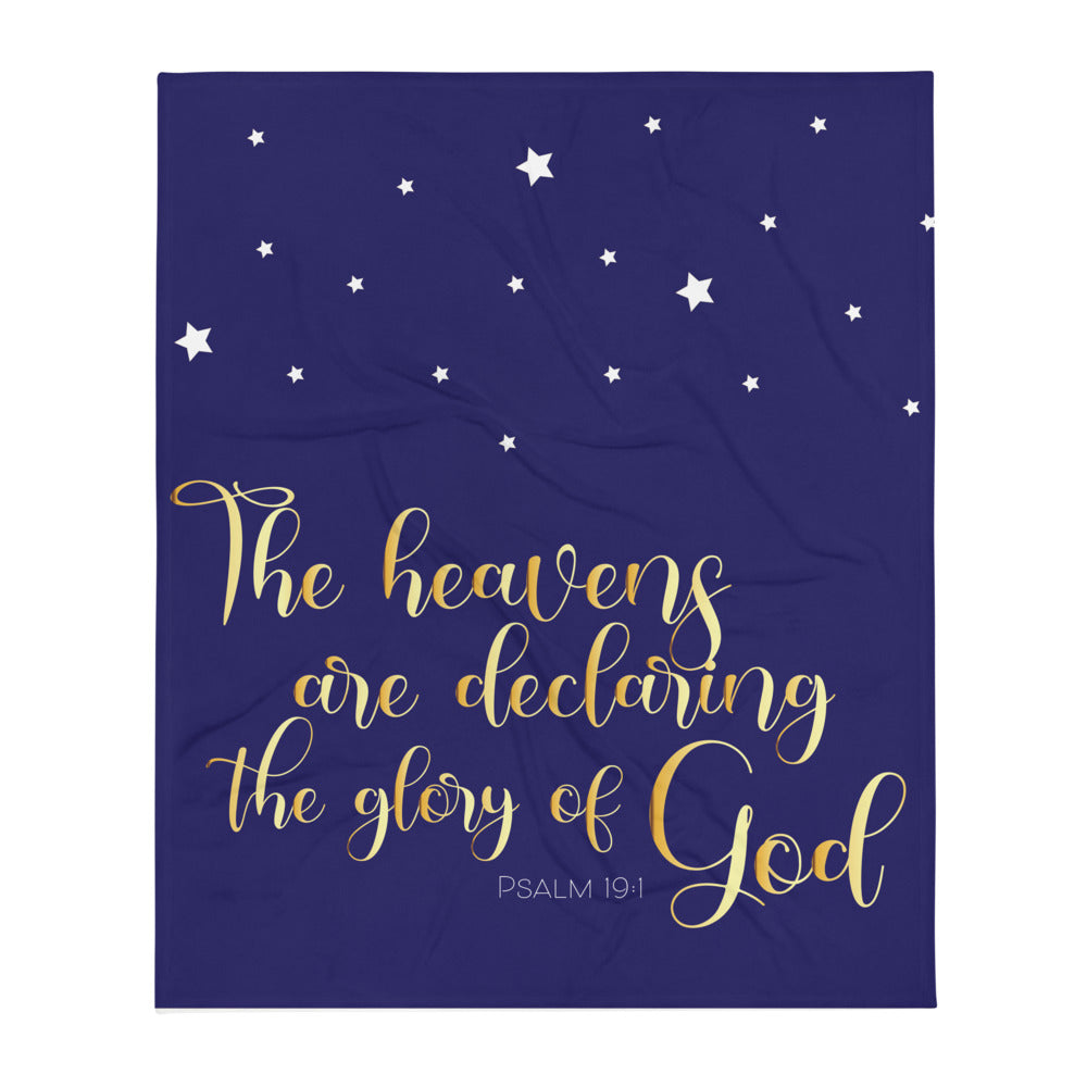 God's Glory with Stars Throw Blanket-JW Gifts-Our Joy Designs