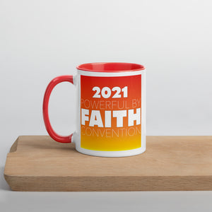 Powerful By Faith Sunny Mug with Color Inside