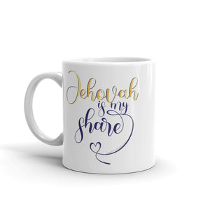 Jehovah is My Share with Heart Mug-JW Gifts-Our Joy Designs