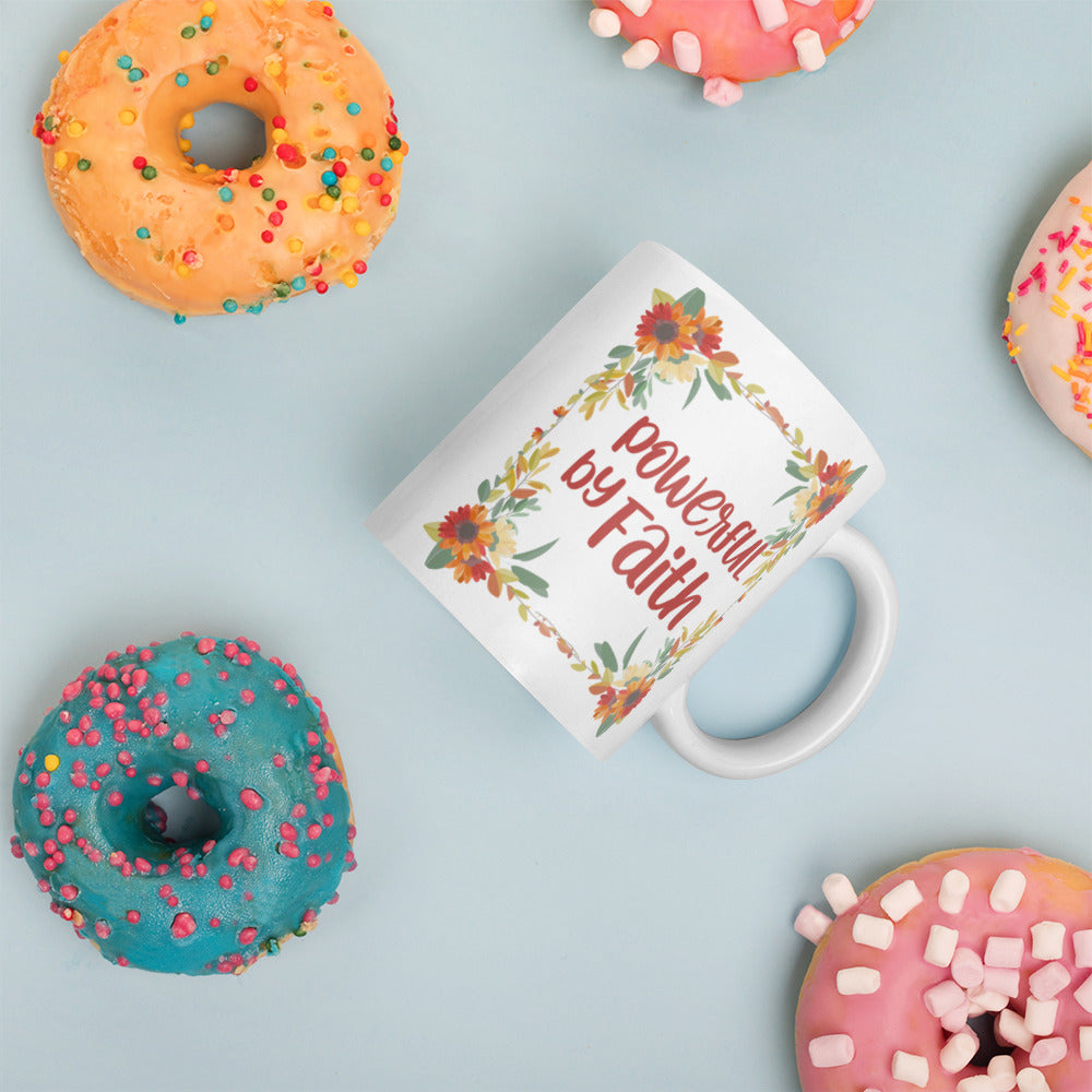 Floral Powerful by Faith Mug
