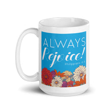 Charger l'image dans la galerie, Always Rejoice Blue and Red Floral Mug-JW Gifts-Our Joy Designs
