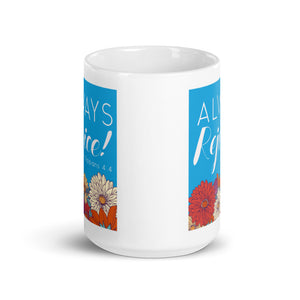 Always Rejoice Blue and Red Floral Mug-JW Gifts-Our Joy Designs