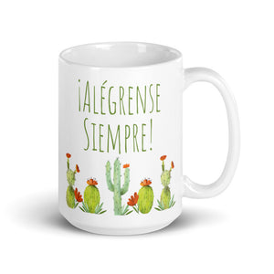 SPANISH Alégrense Siempre! (Always Rejoice) Cactus Mug-JW Gifts-Our Joy Designs
