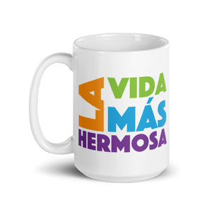 SPANISH La Vida Más Hermosa (The Best Life Ever) Colorful Mug-JW Gifts-Our Joy Designs