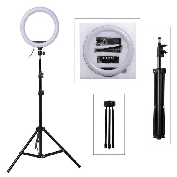 LED 10 Inch Ring Light with Tripod and Phone Holder