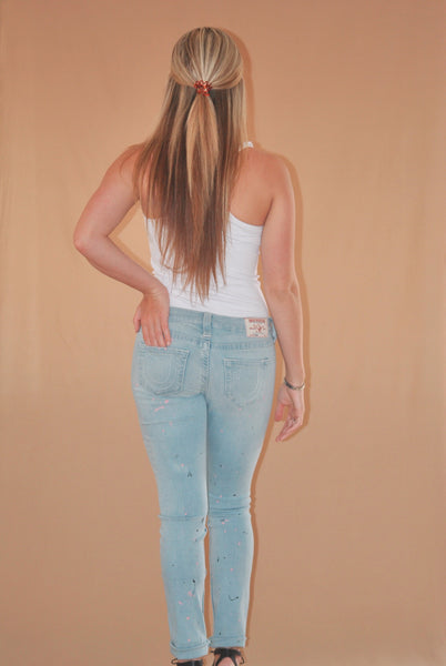 'Paint Splash' Denim Jeans