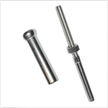 "Load image into Gallery viewer, T316 Stainless Steel Cable Tensioner + Stemball Fitting Set For 1/8"" Wire Rope"