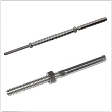 "Load image into Gallery viewer, T316 Stainless Steel Cable Tensioner Set With Threaded Rod For 1/8"" Cable"