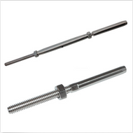 T316 Stainless Steel Cable Tensioner Set With Threaded Rod For 1/8