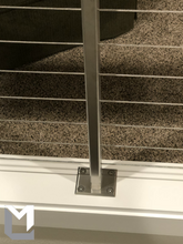"Load image into Gallery viewer, 36"" Tall Cable Railing Posts 1×2"" w/ Tilting Top Plate - T316 Stainless Steel *Exclusive*"