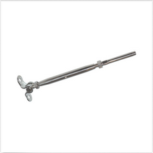 "Load image into Gallery viewer, Heavy Duty Turnbuckle Tensioner With Deck Toggle For 1/8"" Cable - T316 Steel"