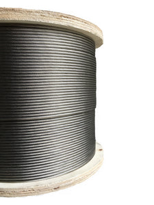 "1/8"" Stainless Steel Cable 1×19 Strand for Cable Rail - 500"" Feet"