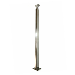 "36"" Tall Cable Railing Posts 1×2"" w/ Tilting Top Plate - T316 Stainless Steel *Exclusive*"