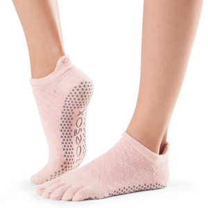 Full Toe Low Rise Sock | Light Pink