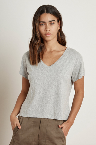 Elva Cotton V-Neck Tee