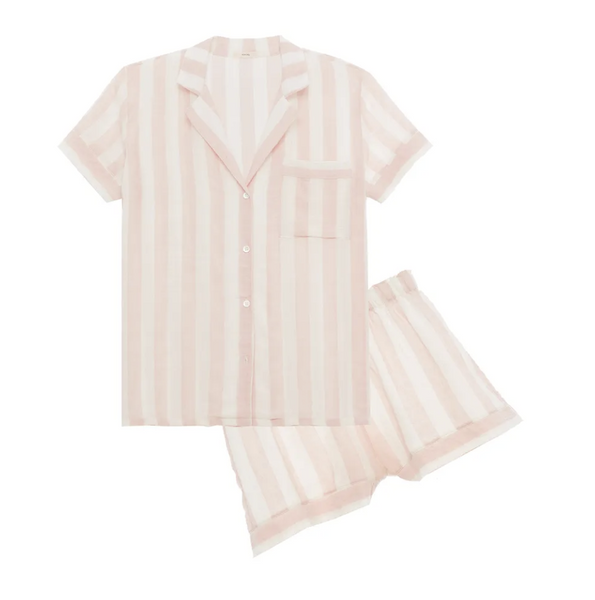 Umbrella Stripes Short Pj Set