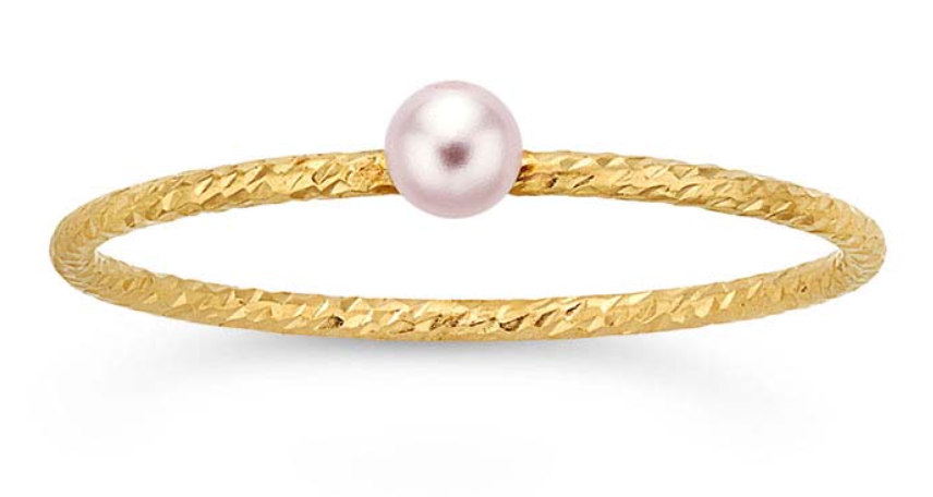 Gold filled Swarovski Pearl Stacker - The 889 Shop
