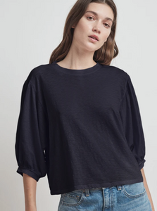 Amara - Cotton Slub Puff Sleeve